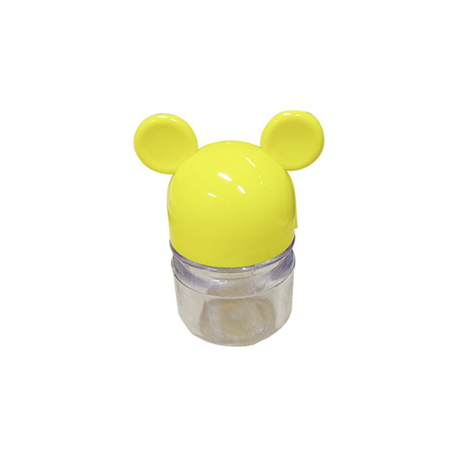 Pote Ratinho C 06 unid Cristal com Tampa Amarelo