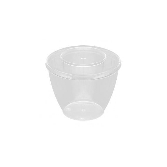 Pote Redondo Transparente com Tampa  150 ml 10 unid Strawplast
