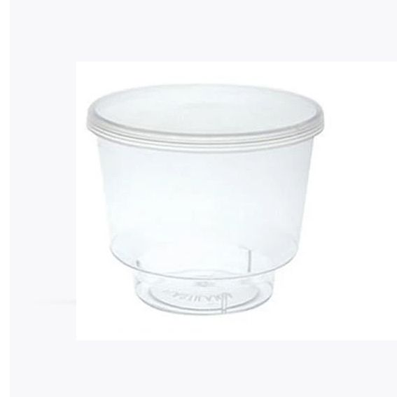 Pote Transparente com tampa 110 ml 10 unid Plastilânia