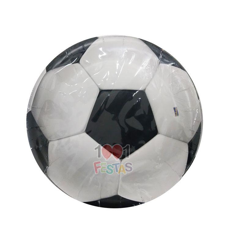 Prato Apaixonados por Futebol C 08 unid Redondo Festcolor