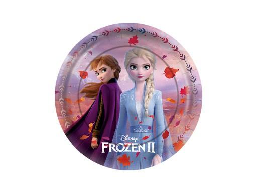 Prato de Papel Frozen 2 C 08 unid Regina