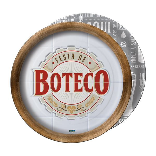 Prato Festa de Boteco C 08 unid Redondo Festcolor