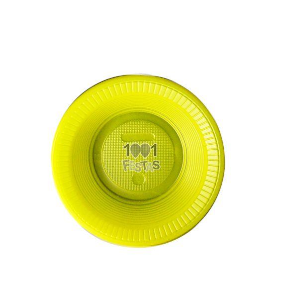 Prato Fundo Amarelo 15cm 10 unid Bello Copo Festas