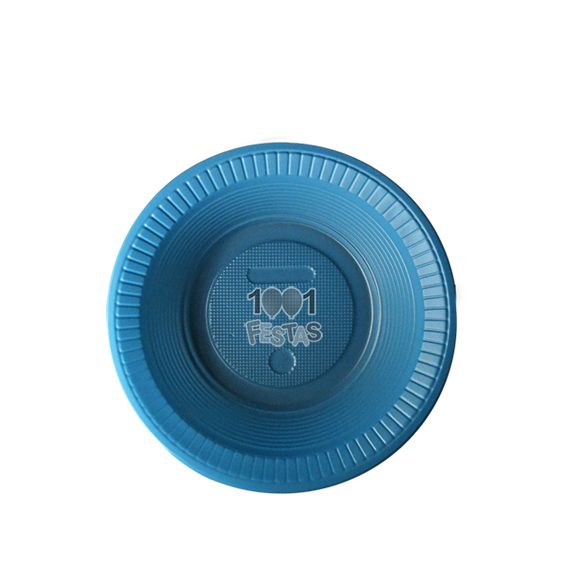 Prato Fundo Azul 15cm 10 unid Bello Copo Festas