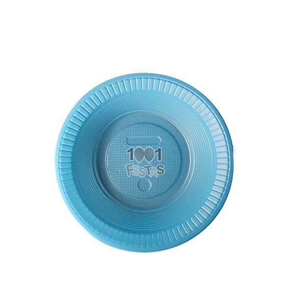 Prato Fundo Azul Claro 15cm 10 unid Bello Copo Festas