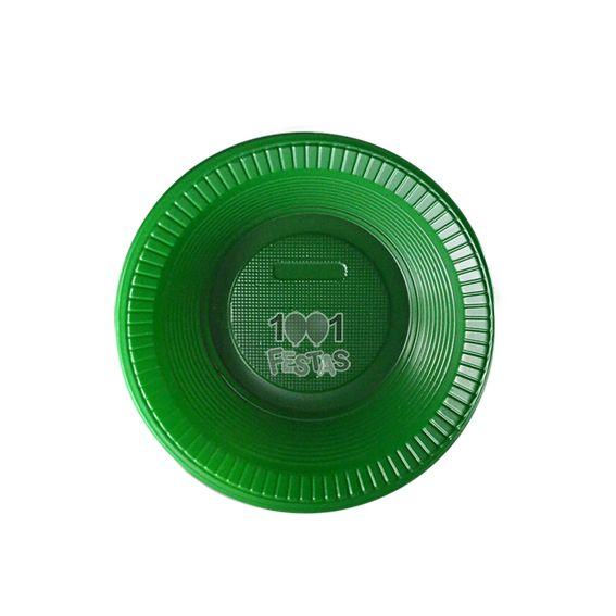 Prato Fundo Verde 15cm 10 unid Bello Copo Festas