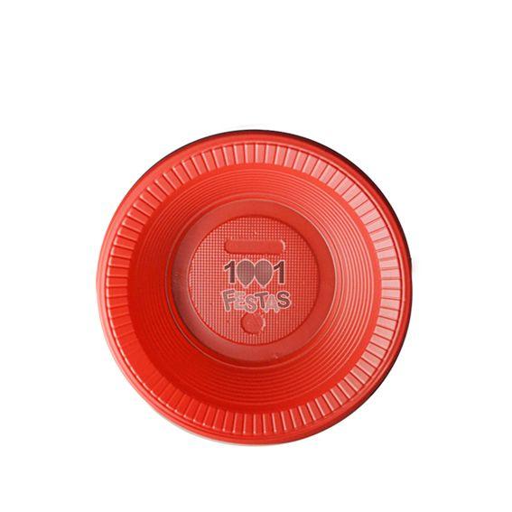 Prato Fundo Vermelho 15cm 10 unid Bello Copo Festas