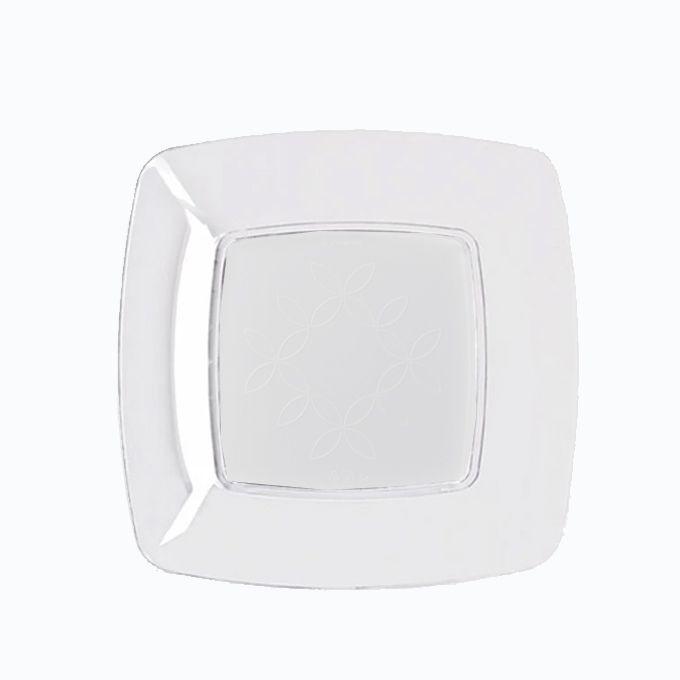 Prato Quadrado Cristal 15cm 10 unid Strawplast