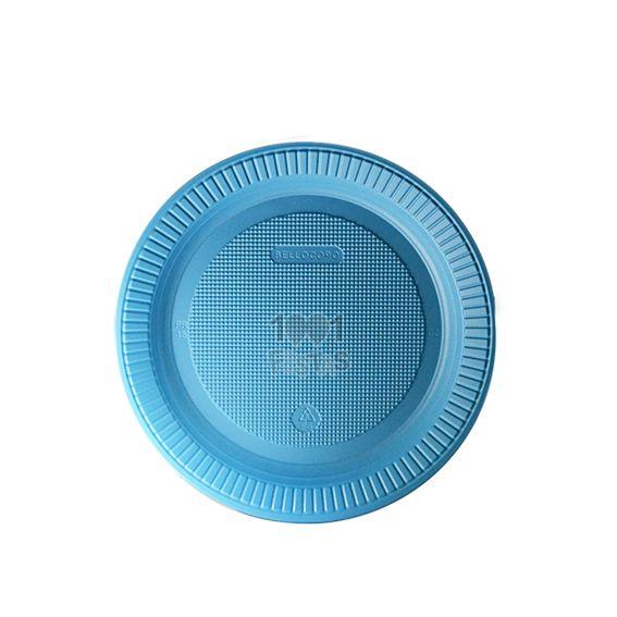 Prato Raso Azul Claro 15cm 10 unid Bello Copo Festas