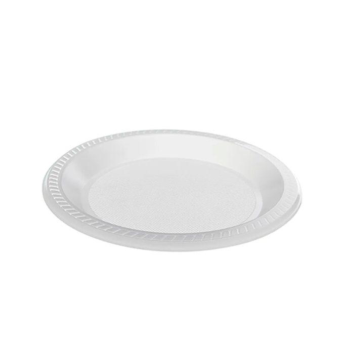 Prato Raso Branco 21cm 10 unid CopoPlast