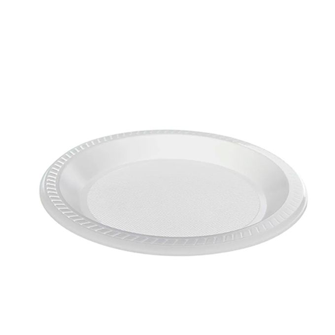 Prato Raso Branco 23cm 10 unid CopoPlast