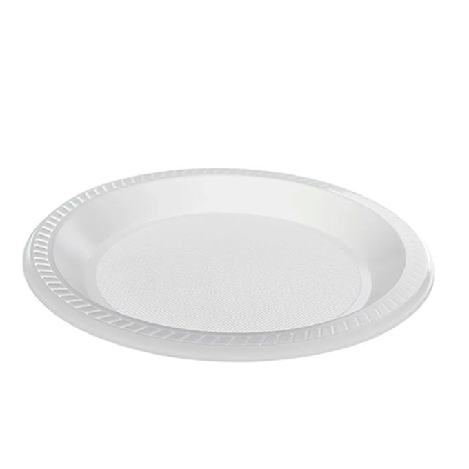 Prato Raso Branco 26cm 10 unid Copozan