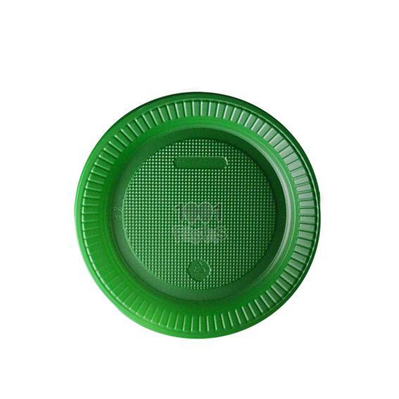 Prato Raso Verde 15cm 10 unid Bello Copo Festas
