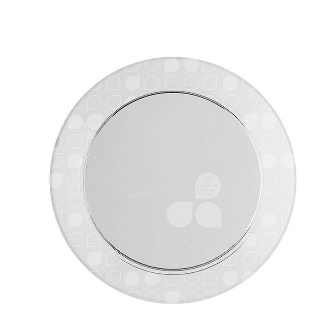 Prato Redondo Cristal 15cm 10 unid Strawplast