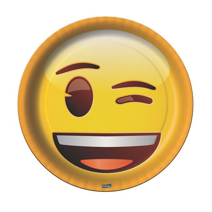 Prato Redondo Emoji C 08 unid Festcolor