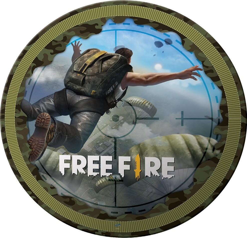 Prato Redondo Free Fire c/8 unid Festcolor