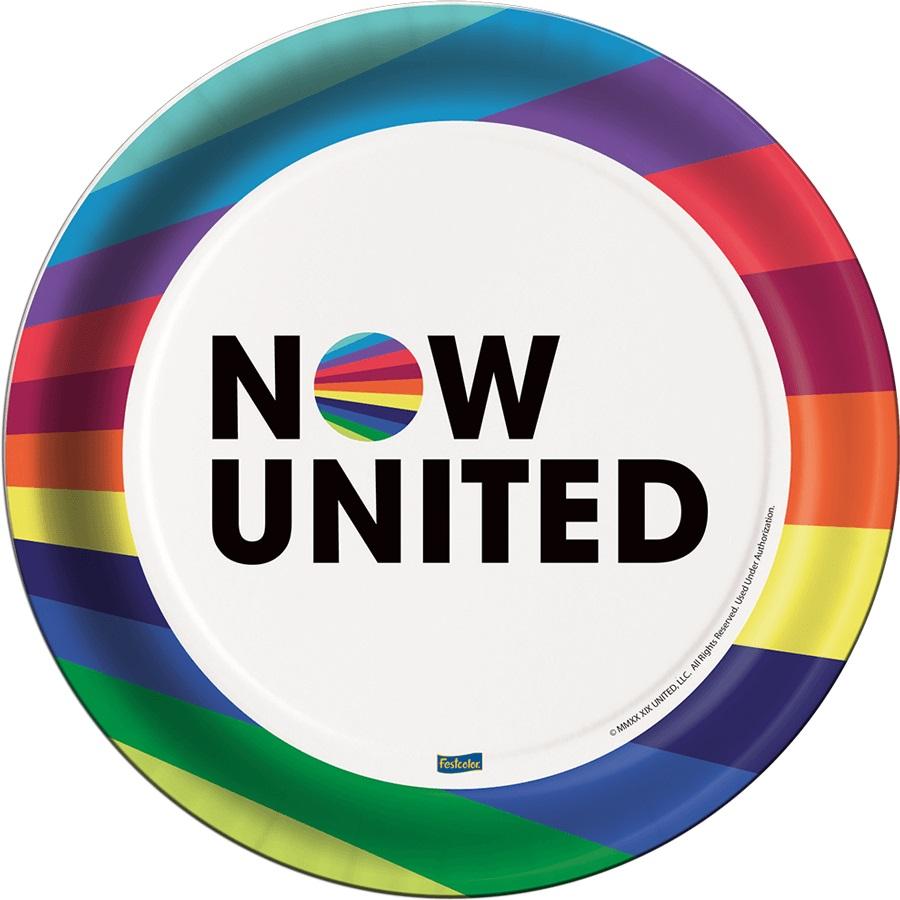 Prato Redondo Now United c/8 unid Festcolor