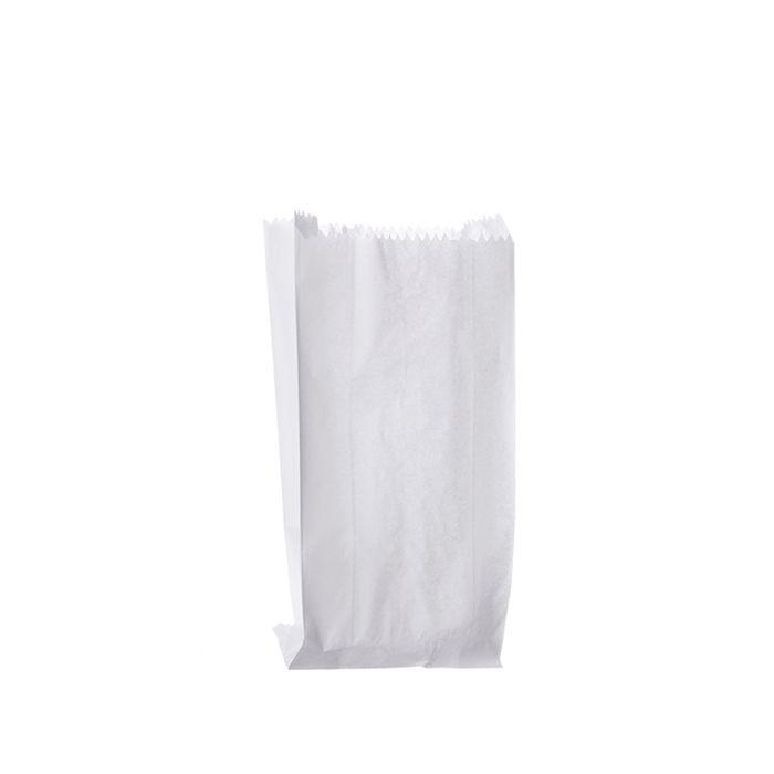Saco de Pipoca P1 11cm x 10cm Branco 100 unid Pluma