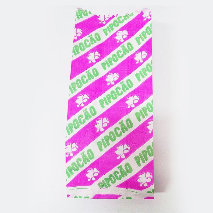 Saco de Pipoca 13cm x 18cm Colorido 100 unid Pluma