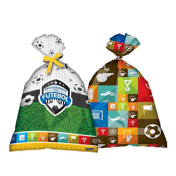 Sacola Plástica Apaixonados por Futebol C 08 Festcolor