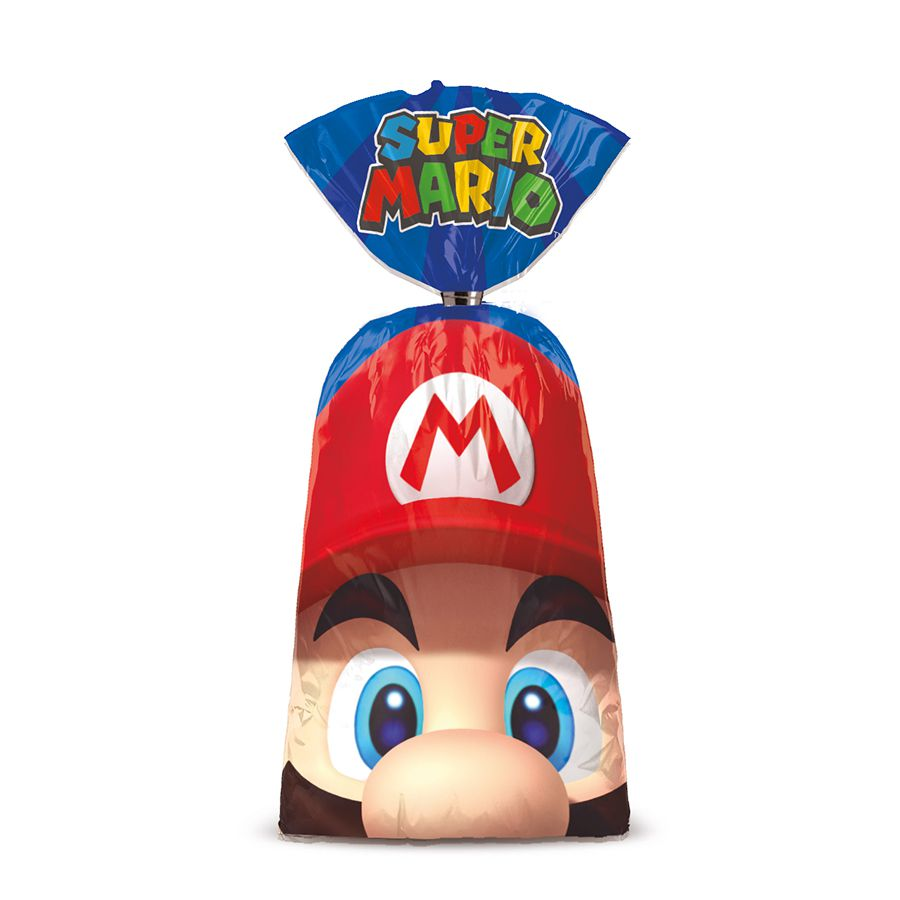 Sacola Plástico Super Mario  C 08 unid Cromus
