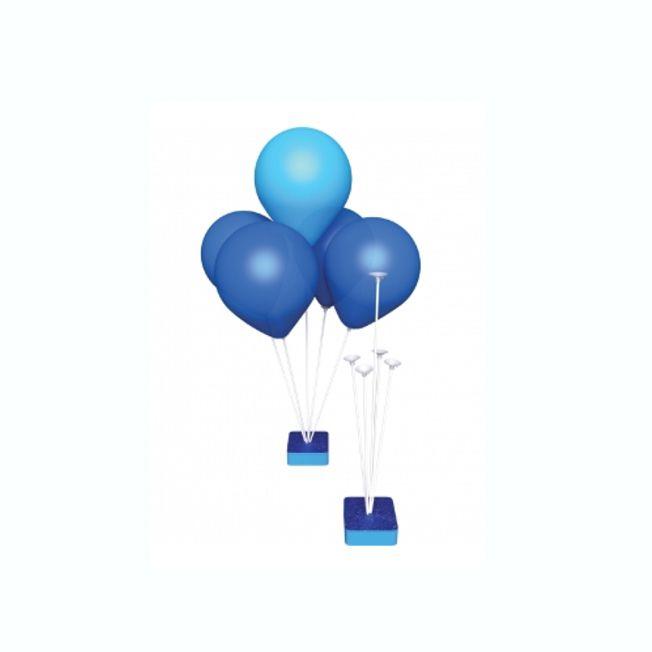 Suporte para Balões 5 Hastes Base Azul 26cm Grintoy