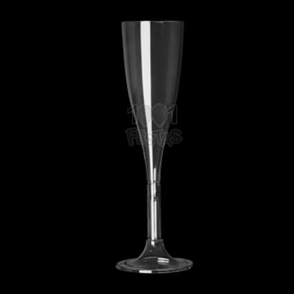 Taça 120ml 04 unid Champagne Cristal Strawplast