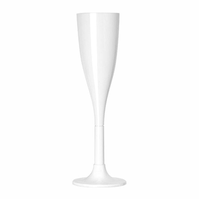 Taça 120ml 04 unid Champanhe Branco Strawplast