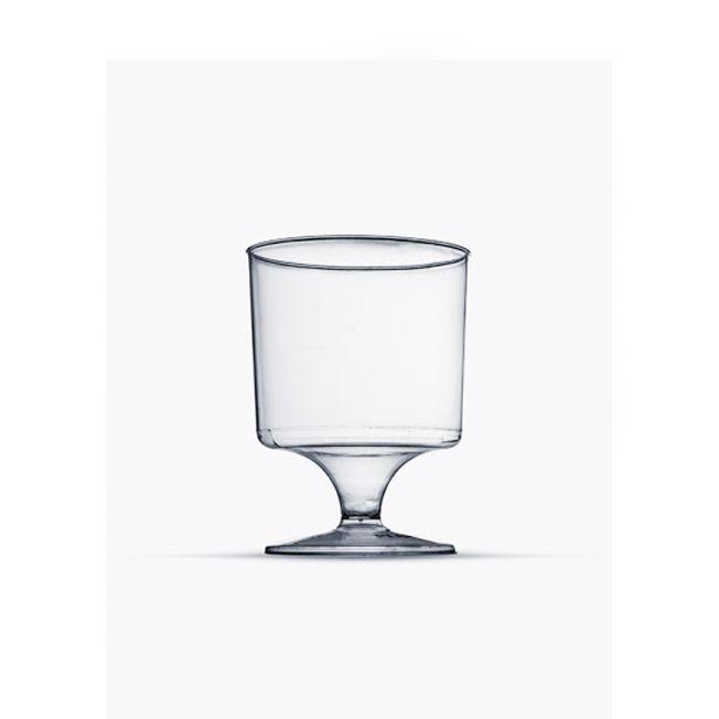 Taça 150ml 10 unid Vinho Cristal Plastilânia