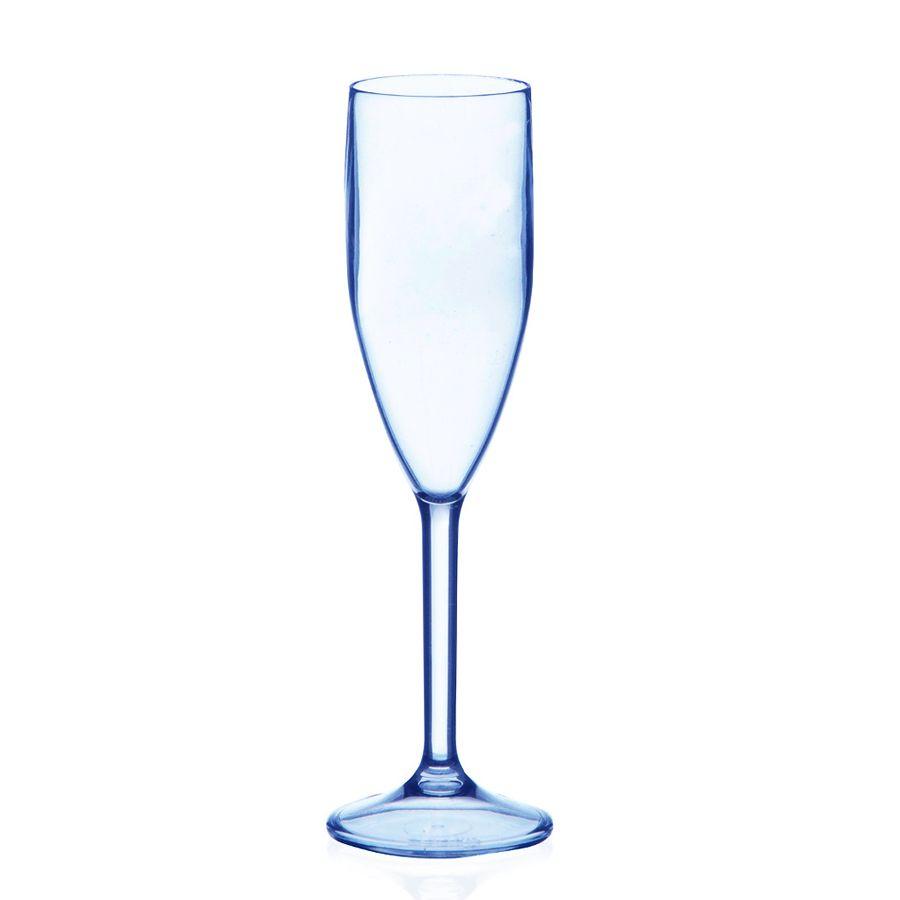 Taça 180ml Champanhe Azul Neon Translúcido