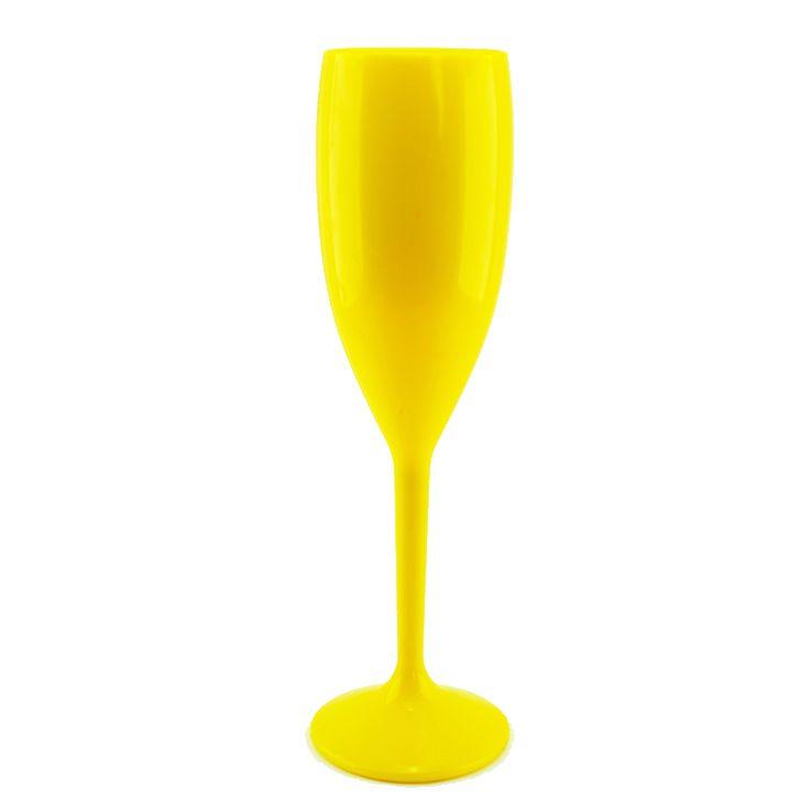 Taça 180ml Champanhe Leitoso Amarelo