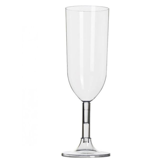 Taça 220ml 04 unid Champagne  Cristal Strawplast