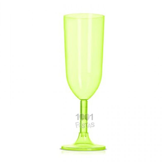 Taça 220ml 04 unid Champagne  Verde Strawplast