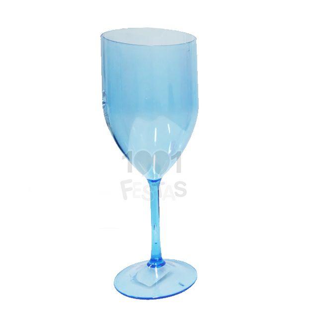 Taça 300ml Vinho Azul Trasnlúcido