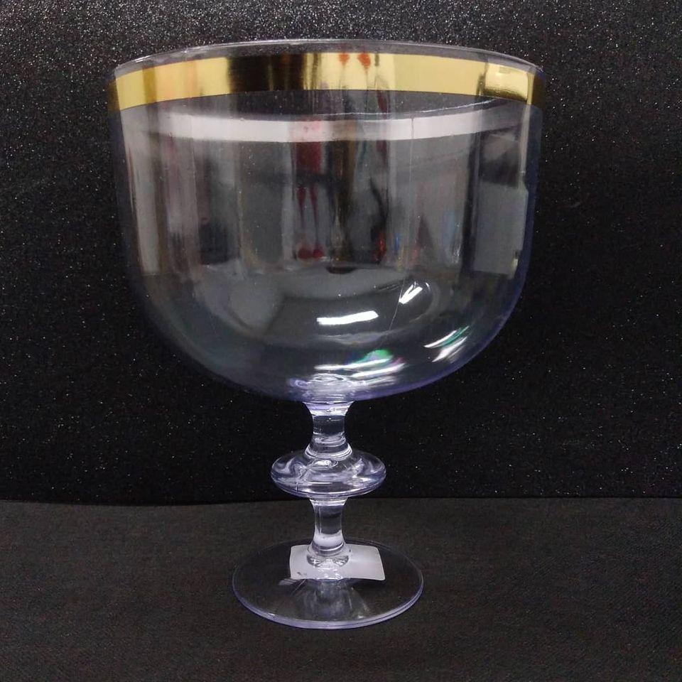 Taça Americana Cristal C/ Borda Dourada 1,250L LSC Toys