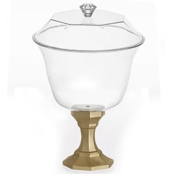 Taça Diamante Com Tampa 1250ml Ouro