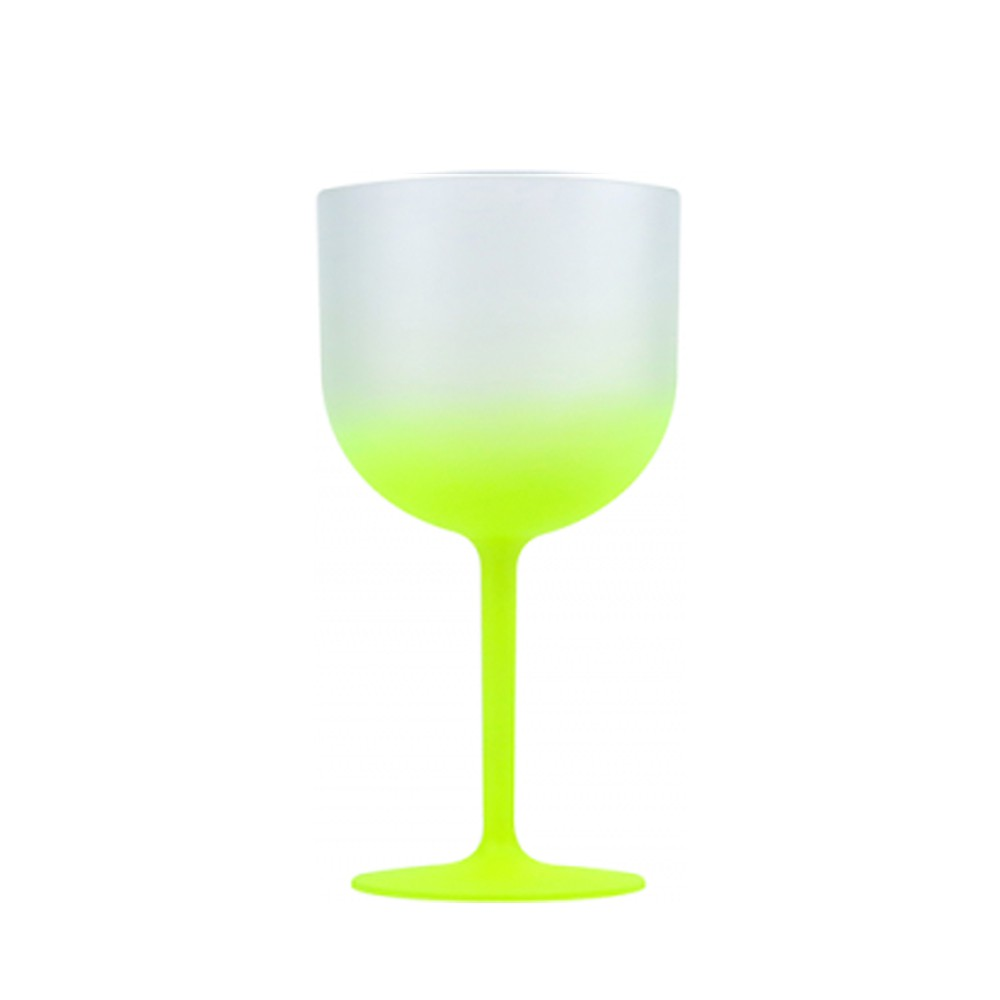 Taça Gin Degradê Amarelo Neon 580ml