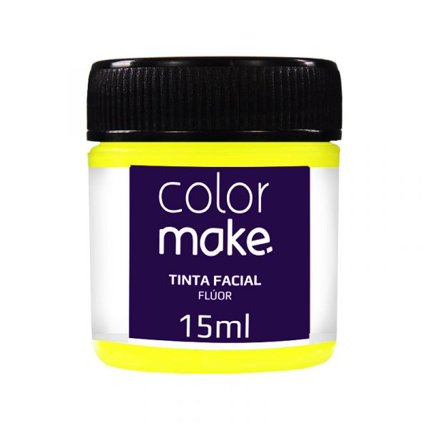 Tinta Facial Amarelo Flúor 15ml Colormake