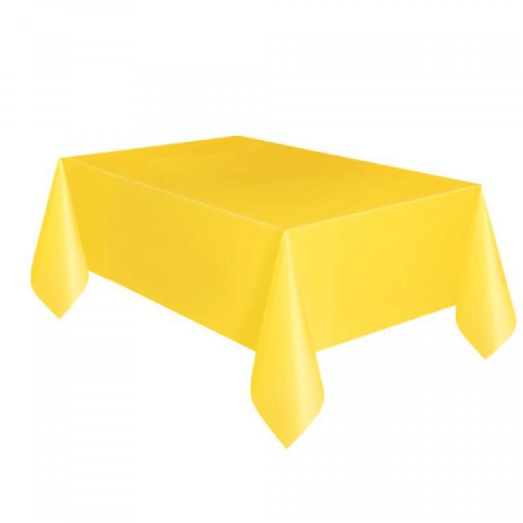 Toalha Plástica Amarela 137cm x 274cm Silver Festas