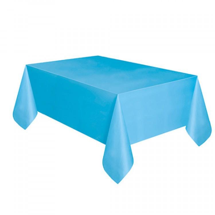 Toalha Plástica Azul Bebê 137cm x 274cm Silver Festas