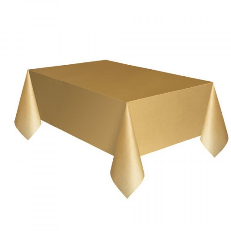 Toalha Plástica Dourada 137cm x 274cm Silver Festas