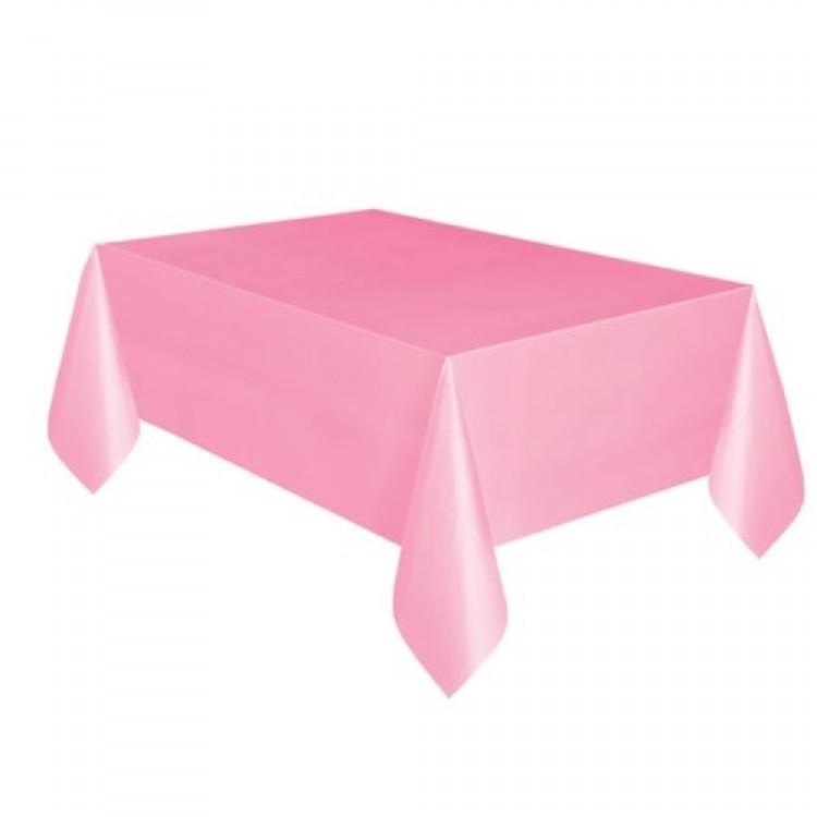 Toalha Plástica Rosa Bebê 137cm x 274cm Silver Festas