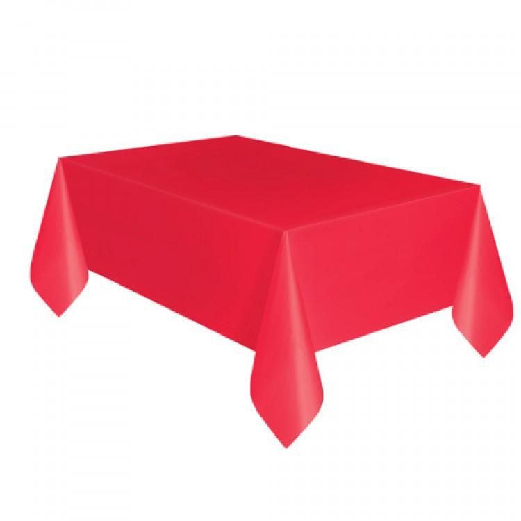 Toalha Plástica Vermelha 137cm x 274cm Silver Festas