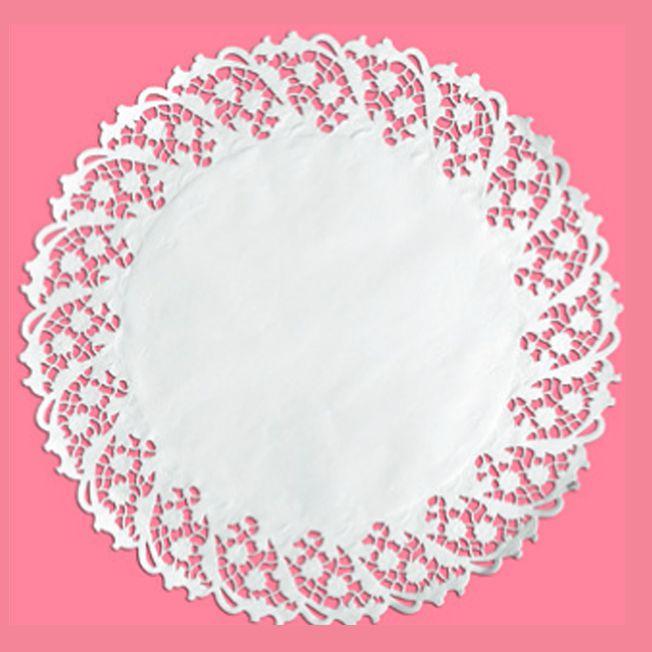 Toalha Rendada Papel Branco 36 cm 06 unid Mago