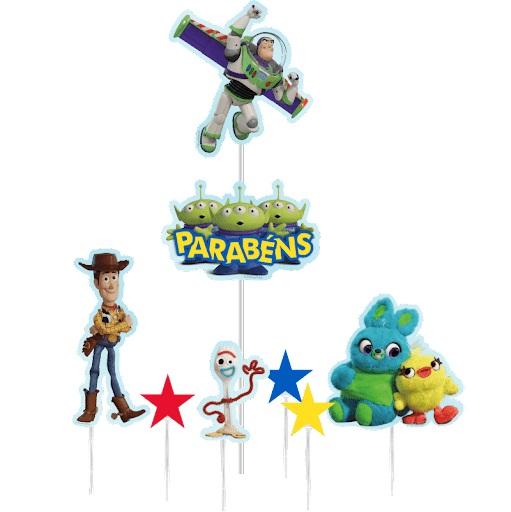 Topo de Bolo Impresso Toy Story Piffer