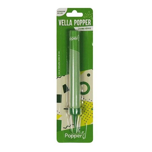 Vela Estrela Verde C 01 unid Popper
