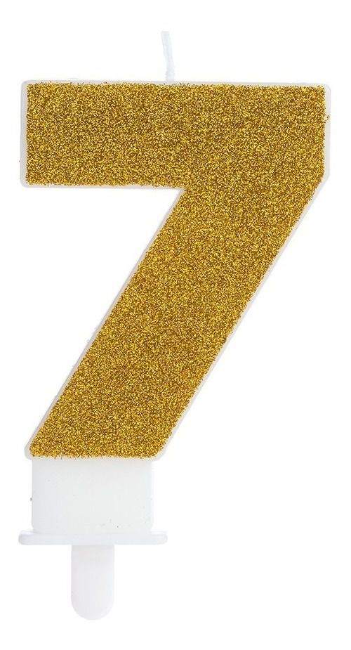 Vela Fashion 7 Dourada Silver Festas