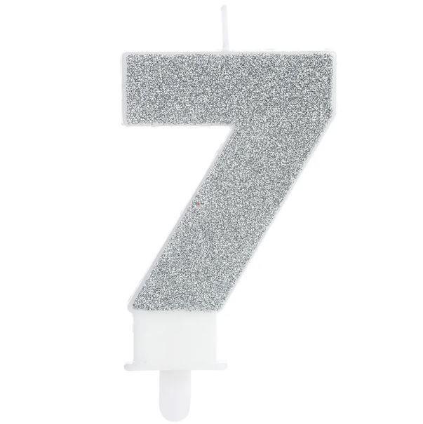 Vela Fashion 7 Prata Silver Festas