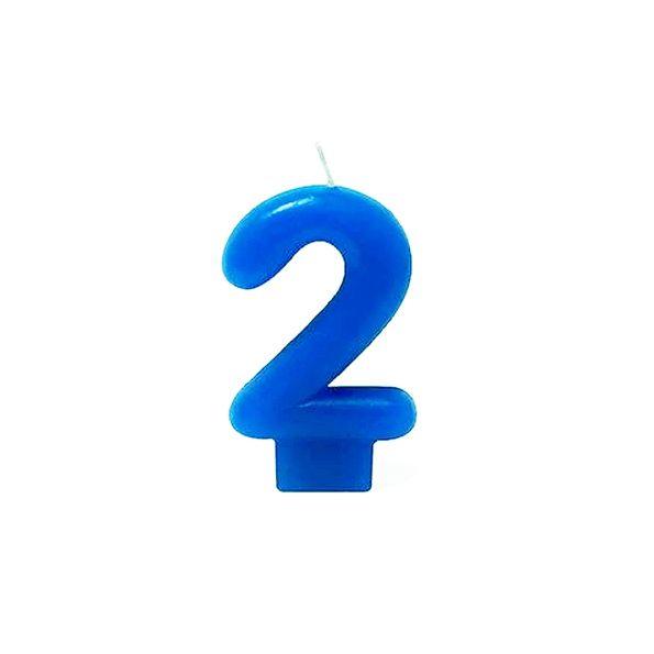 Vela Número 2 Azul silver Festas
