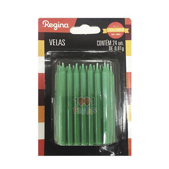 Vela Palito Verde C 24 unid Regina